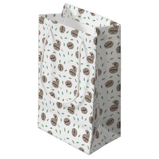 sloth happy face - pattern small gift bag