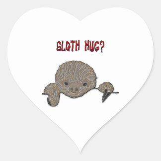 Sloth Hug Baby Sloth Heart Sticker