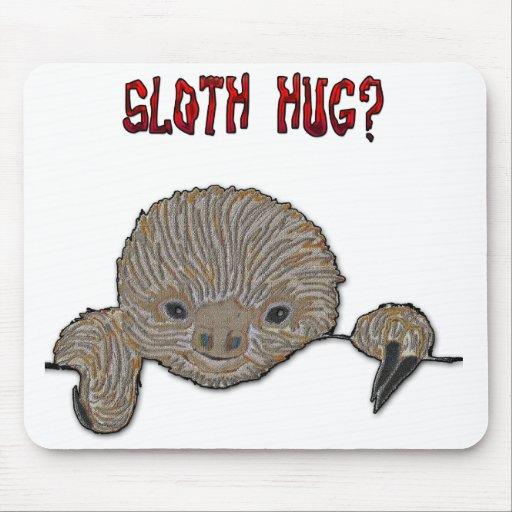 Sloth Hug Baby Sloth Mousepads
