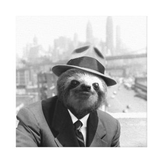 Sloth in New York Canvas Print