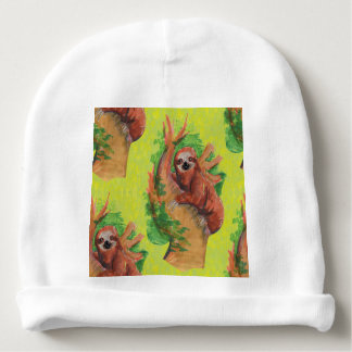 sloth in the tree baby beanie