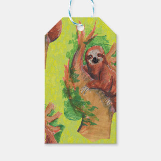 sloth in the tree gift tags