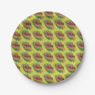 sloth in the tree paper plate