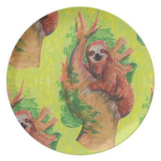 sloth in the tree plate