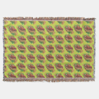 sloth in the tree throw blanket