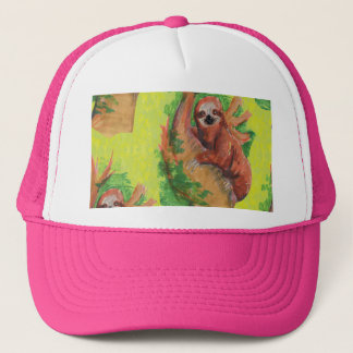 sloth in the tree trucker hat