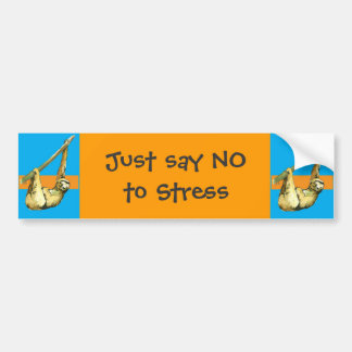 Sloth -Just Say NO Bumper Sticker