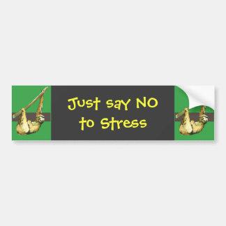 Sloth -Just Say NO Bumper Sticker