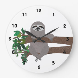 Sloth Large Clock