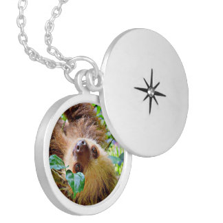 Sloth Locket Necklace