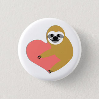 Sloth Love 3 Cm Round Badge