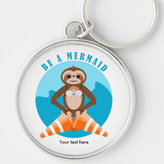 Sloth Mermaid Traffic Cone Key Ring