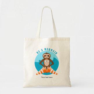 Sloth Mermaid Traffic Cone Tote Bag