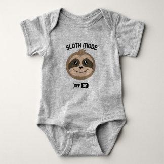 Sloth Mode On Cute Baby Romper Suit Baby Bodysuit