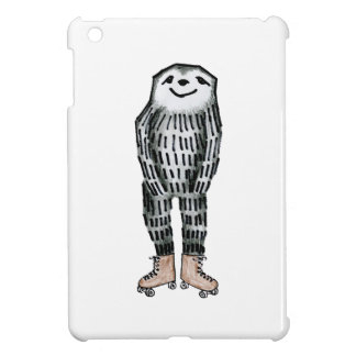 Sloth on Roller Skates Case For The iPad Mini