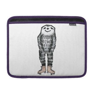 Sloth on Roller Skates MacBook Sleeve