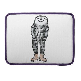 Sloth on Roller Skates Sleeve For MacBooks