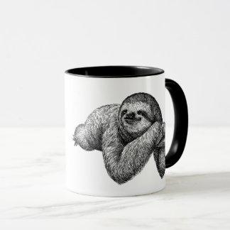 Sloth on tree mug