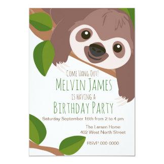 Sloth Party Invitation
