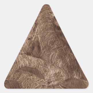 sloth pencil sketch triangle sticker