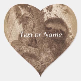 sloth pencil sketch heart sticker