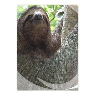 Sloth Photo Design Invitation