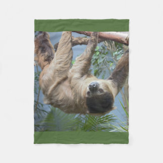 Sloth Photo Fleece Blanket