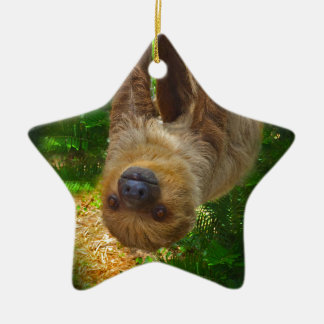 Sloth Rainforest Gifts Ceramic Ornament