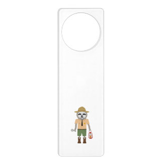 Sloth Ranger with lamp Z2sdz Door Knob Hanger
