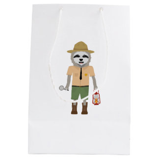Sloth Ranger with lamp Z2sdz Medium Gift Bag