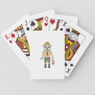 Sloth Ranger with lamp Z2sdz Playing Cards