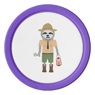 Sloth Ranger with lamp Z2sdz Poker Chips