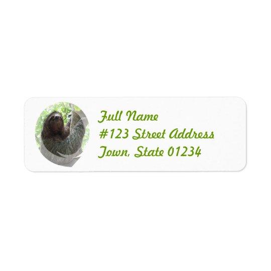 Sloth Return Address Mailing Label Return Address Label