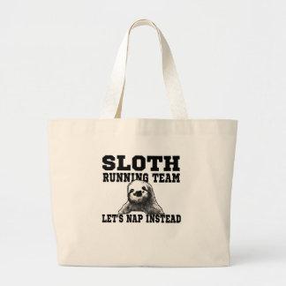 Sloth Running Team Canvas Bags