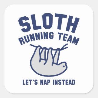 Sloth Running Team Square Sticker