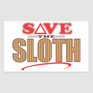 Sloth Save Rectangular Sticker