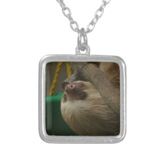 Sloth Silver Plated Necklace