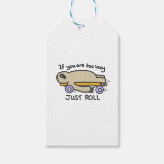 Sloth Skateboarding Gift Tags