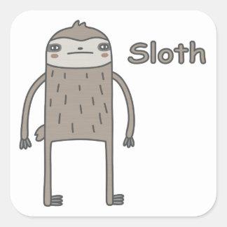 Sloth Square Sticker