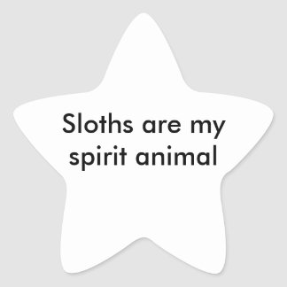 Sloth Star Sticker