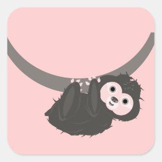 Sloth Square Stickers