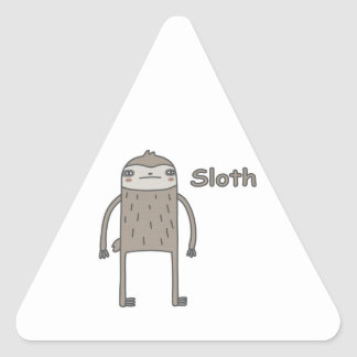 Sloth Triangle Stickers