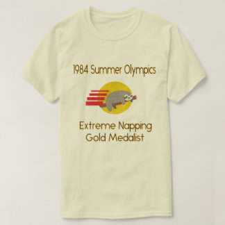 Sloth Summer Extreme Napping Gold Medalist Funny T-Shirt