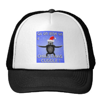 sloth wants a christmas cuddle cap