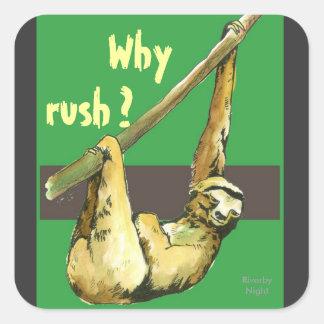 Sloth -Why Rush? Sticker