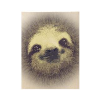 Sloth Wood Poster