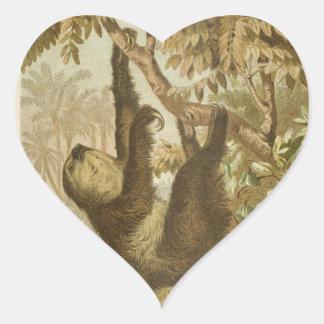 Sloths are Super Heart Sticker