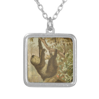 Sloths are Super Silver Plated Necklace