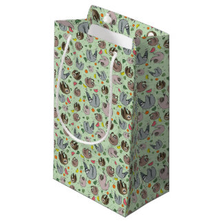 Sloths in Green Small Gift Bag
