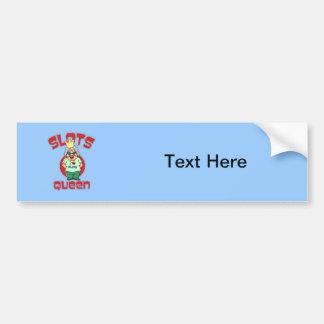 Slots Queen - Customize Slot Machine Car Bumper Sticker
